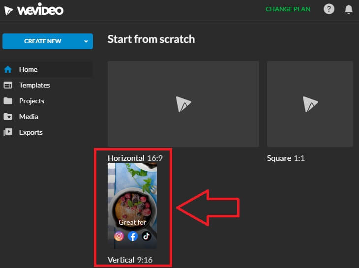youtube channel create short video with wevideo