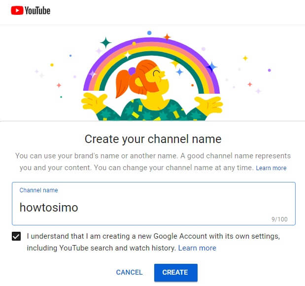 how to make youtube channel get started create your channel name