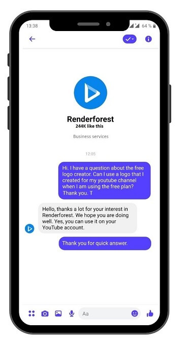 youtube channel renderforest free non-profit licence using