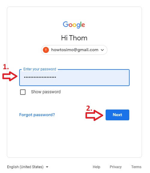 how to make youtube channel sigh in add password