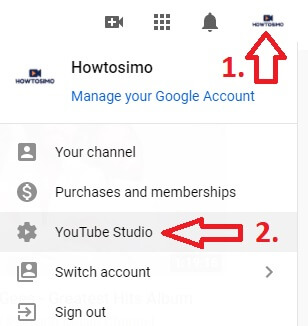 youtube channel uploading first video log in to youtube studio