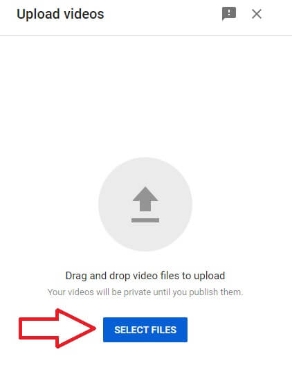 youtube channel studio dashboard select video files to upload