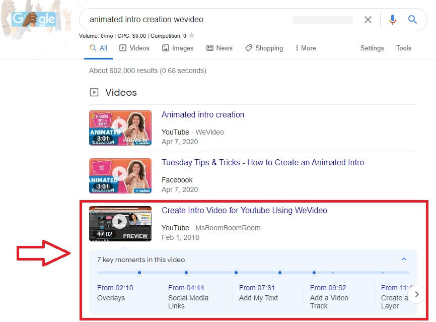 how to make youtube channel timeline google serp